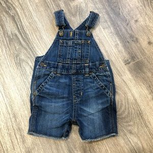 Baby Gap Denim Overall Shorts Shortalls